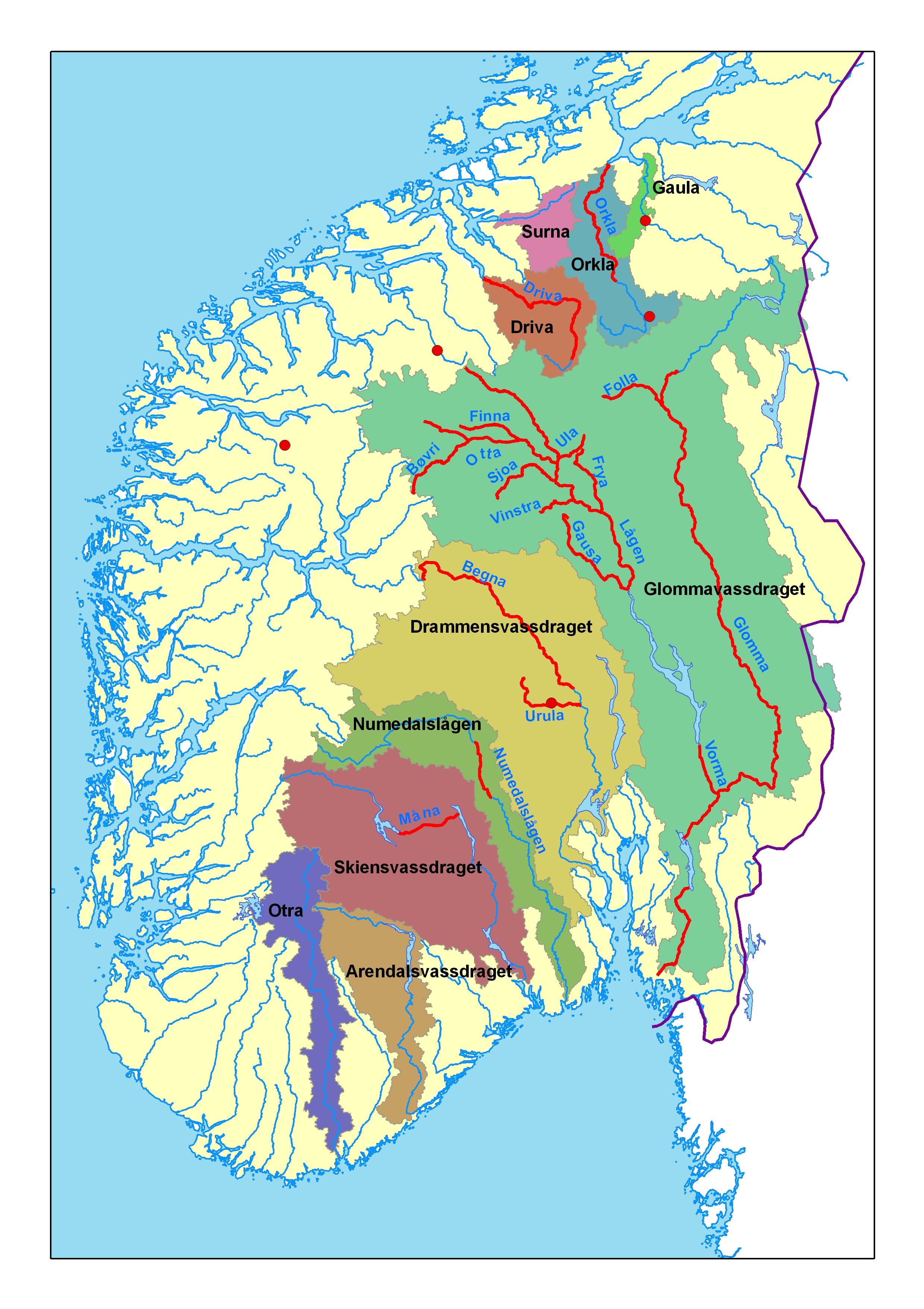 gudbrandsdalen kart 1789: Storofsen i Vågå   NVE gudbrandsdalen kart