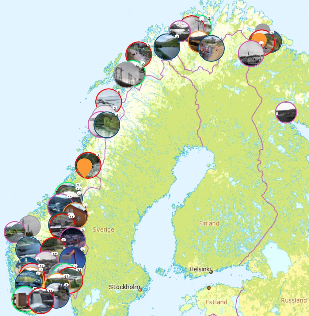 kulturminner kart NVEs utvalgte kulturminner   NVE kulturminner kart