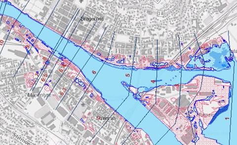 kart drammenselva Flomsonekart for Drammenselva overlevert   NVE kart drammenselva